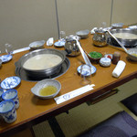 水たき 長野 - 最初の食のセッティング風景