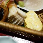 ひろ寿 - マナガツオの焼き物と、だし巻き卵