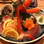 庵ぐら - 庵ぐら盛り ほっけ 真ます ホウボウ 真鯛 マグロ ホッキ貝 カニ 甘エビ