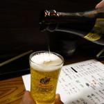 やきとり 本牧 - エビスビール700円