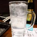やきとり 本牧 - レモンハイ450円
