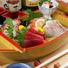 海鮮居酒屋 天秤棒 - 料理写真:毎朝市場で仕入れ鮮度抜群