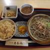 そば処 まる八 - 料理写真:「おろしそば昼セット」780円
