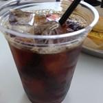 cafe de MeiPAM - 本格派の深煎りアイスコーヒー。