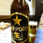 鳥佳 - 瓶ビール大550円