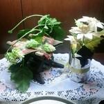 庄や - トイレの造花
