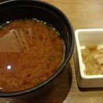 新宿さぼてん - 味噌汁(お替り自由)、お新香