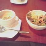 18496589 - ランチサラダ&スープ