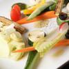 和いん家 - 料理写真:女性に人気!!10種野菜の彩りバーニャカウダ