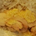 堀内チキンライス - 生姜をかける