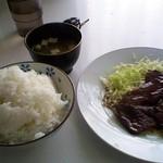 鯨食堂 - 料理写真:鯨ステーキ定食600円