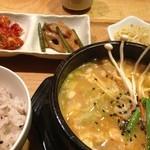 韓国料理 HARU - ランチ…純豆腐チゲ定食