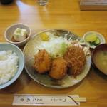 丸幸洋食店 - コロッケセット定食 680円