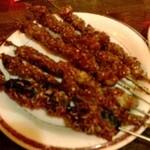 中国茶房8 - 2013年4月24日羊串と蚕の串