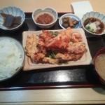 多か将 - 大山鶏の唐揚げおろしポン酢定食¥700