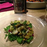 ヴィーノ ガッポ - タケノコとツブ貝のグリル 温かいサラダ仕立て