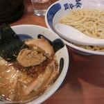 麺や葵 - 醤油つけ麺+味玉880円