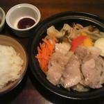 なのはなキッチン - 豚と野菜のスチームランチ780円