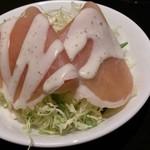 東銀座 羅豚 - サラダ:生ハムシーザーサラダ