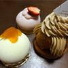 パティスリーモリヤ - 料理写真:ネーブル390円、紅ほっぺ390円、サントノーレキャラメル420円