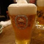 浜一番屋 - キリン一番搾りフローズン生ビールグラス530円
