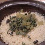まごわやさしい - 春の山菜土鍋炊き込みご飯
