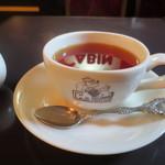 珈琲艇キャビン - セイロン紅茶・・・CABINの文字が・・・