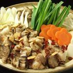 雨の竹 - 炙りもつ鍋