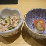 博多華味鳥 - 酢もつ、明太子山芋