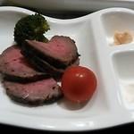 章月グランドホテル - 本日の料理長からの一品、ローストビーフ