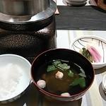 章月グランドホテル - 釜で炊くご飯、美味しい!