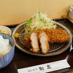 とんかつ和泉 - ロースかつ定食(大)