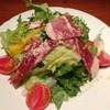 レストランバー YUME - 料理写真:生ハムと有機野菜のサラダS 680円