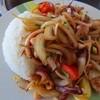 アイユスレストラン - 料理写真:現地語わからん。イカとタマネギの炒め物御飯¥1300