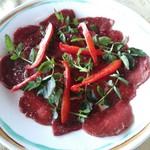 壺屋 - 馬肉のカルパッチョ