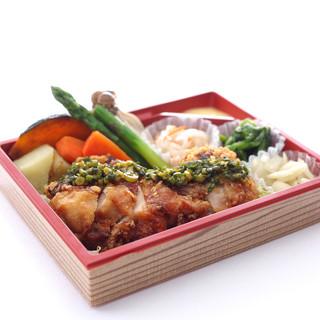 県内産の新鮮なお野菜をたっぷり使ったお弁当
