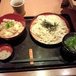 穂の香 - 親子丼定食の冷たいうどん大盛780円