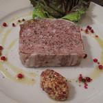 ワイン食堂 根 - パテ・ド・カンパーニュ。 しっかりと美味しい♪