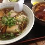 中華そば 一元 - 中華そば定食(ミニカツ丼)