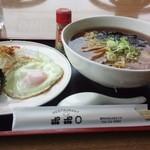 レストラン ポポロ - ラーメン定食 正油 650円コーヒー付き 水・木・金曜日ランチデザート付