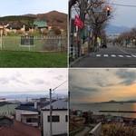 ラッキーピエロ - 函館観光 外人墓地付近の風景。