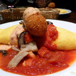 66ダイニング六本木六丁目食堂 - オムライス完熟トマトソース