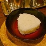 天下一品 - 土鍋つけ麺に付いてくる こむすび