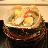 西麻布 いち乃 - 下関産のワタリガニ。カニ味噌との相性抜群です。