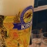 阪急トップ ビアガーデン - ビールを飲むぞ〜!(一番搾り)