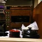 西洋料理 島 - ここでステーキを焼きます