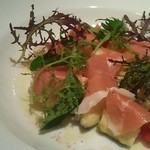 Spain bar Sebasuke - 泉州水茄子と生ハムのサラダ