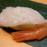 裕寿司 - 追加の赤エビ¥200 塩で フツーに美味しい☆