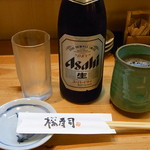 裕寿司 - ビールと上がりは同時到着★