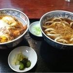 満留賀 - 天玉丼セットうどん